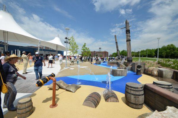 11Mt. Elliot Park water fountain ship play area