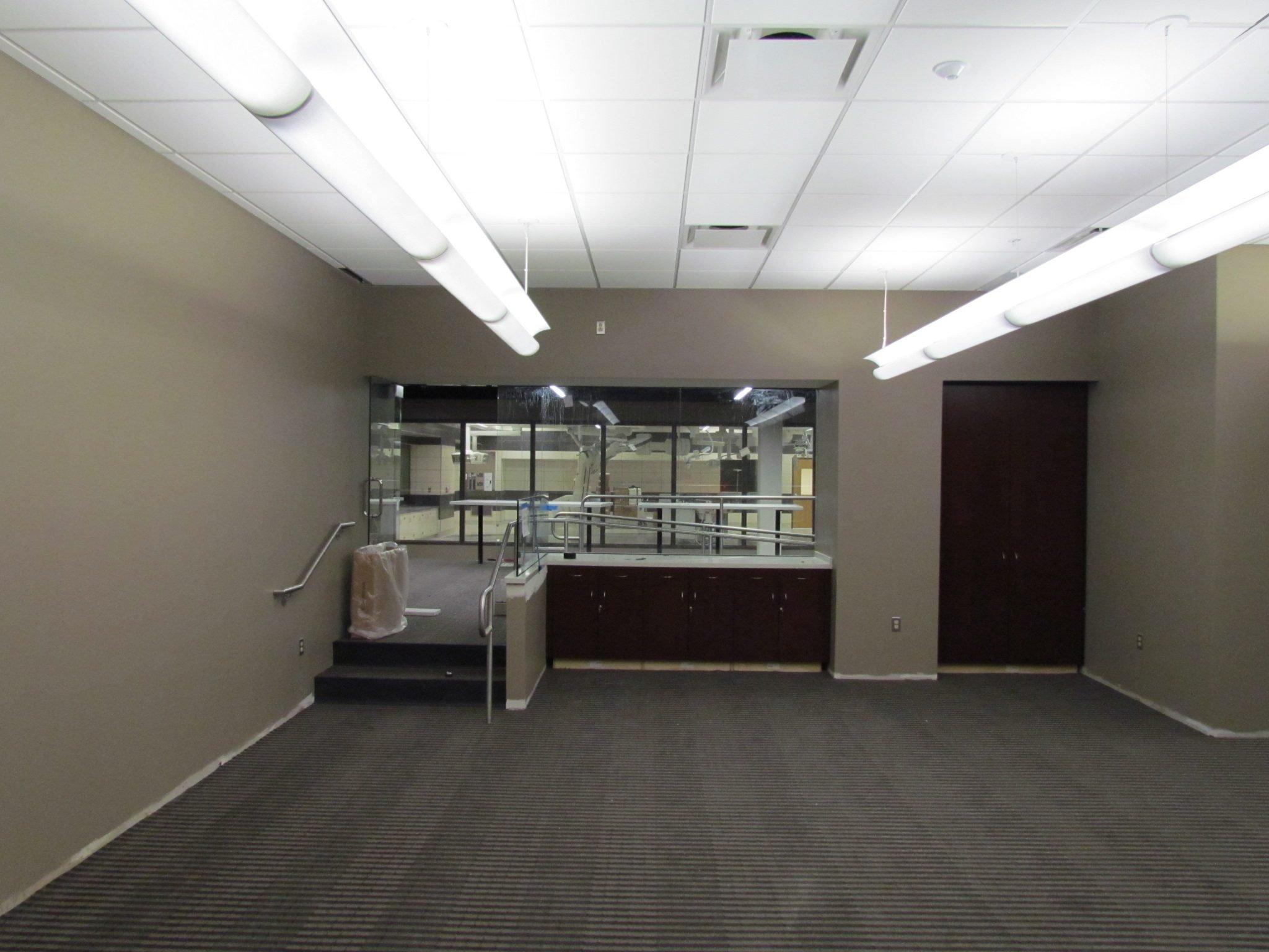 11Beaumont Hospital beige room interior with dark cabinets