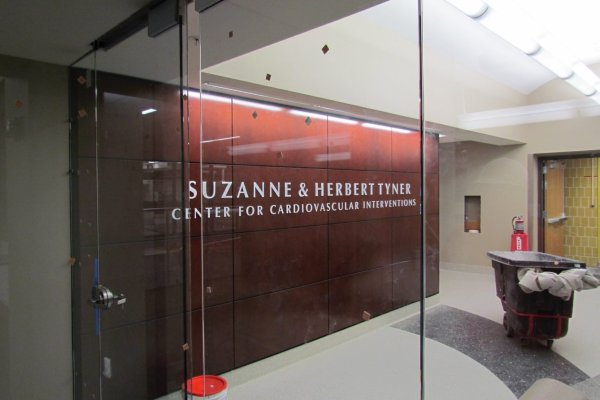 Beaumont Hospital center with glass doors