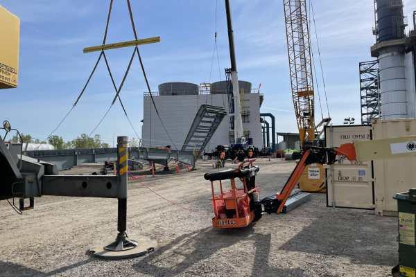 11Kiewit Power construction site with orange crane