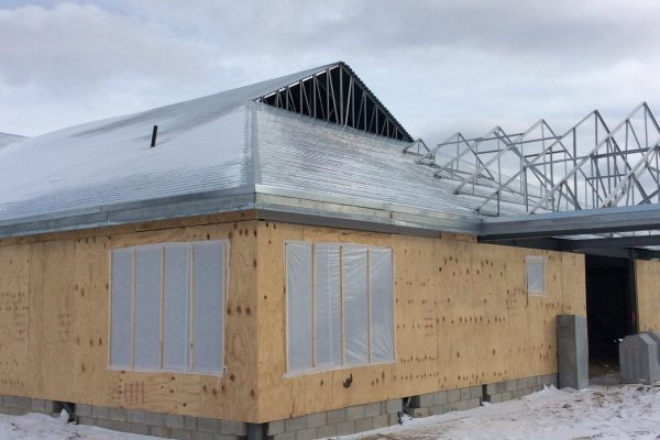 11Novi Early Child Education Center unfinished building exterior with roof