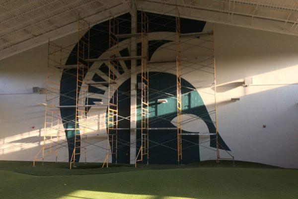 11Michigan State University golf facility wall mural