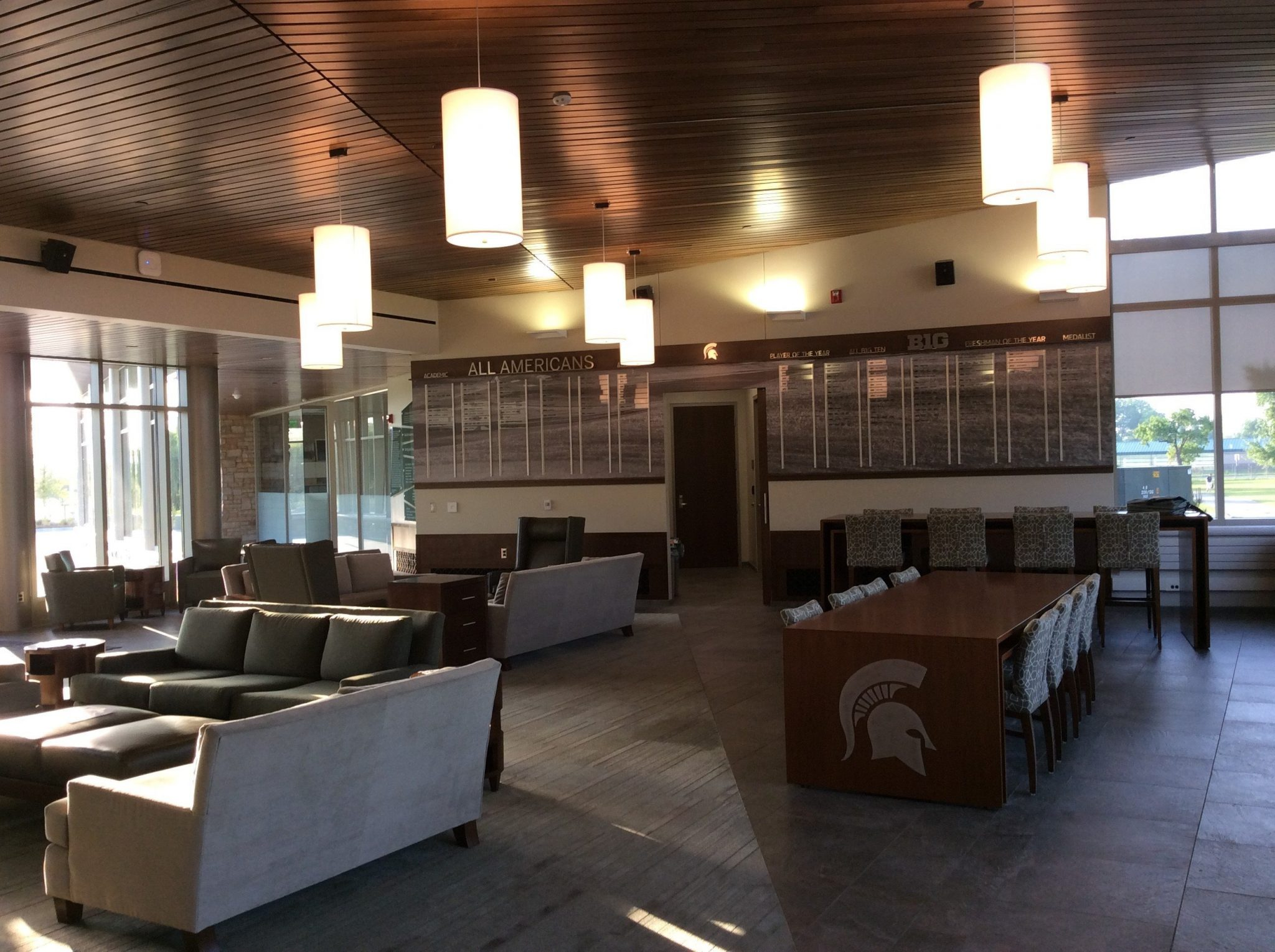 11Michigan State University golf center common room with tables
