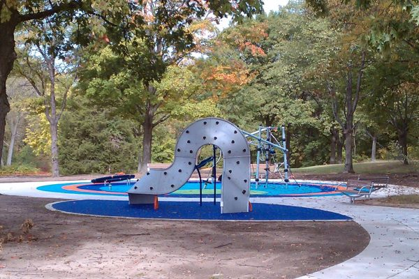 11Marshbank Park metal slide at playground