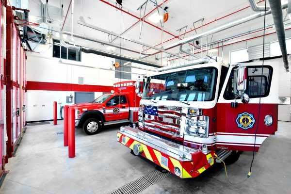 West Bloomfield Fire Station fire engines