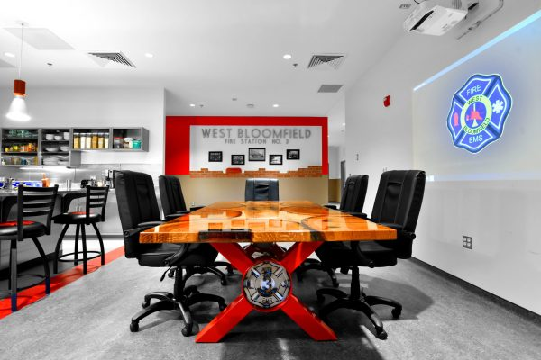 West Bloomfield Fire Station dining table