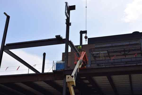 UM Flint Murchie Hall metal framework