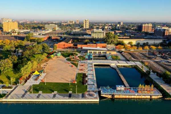 Robert C. Valade Park on Detroit riverfront