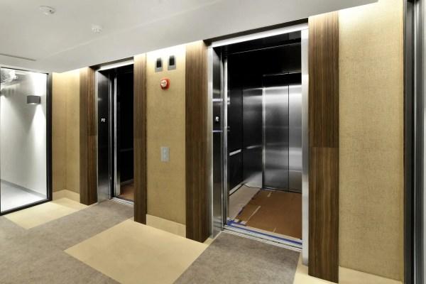 Brookside Condominiums elevators and hallway