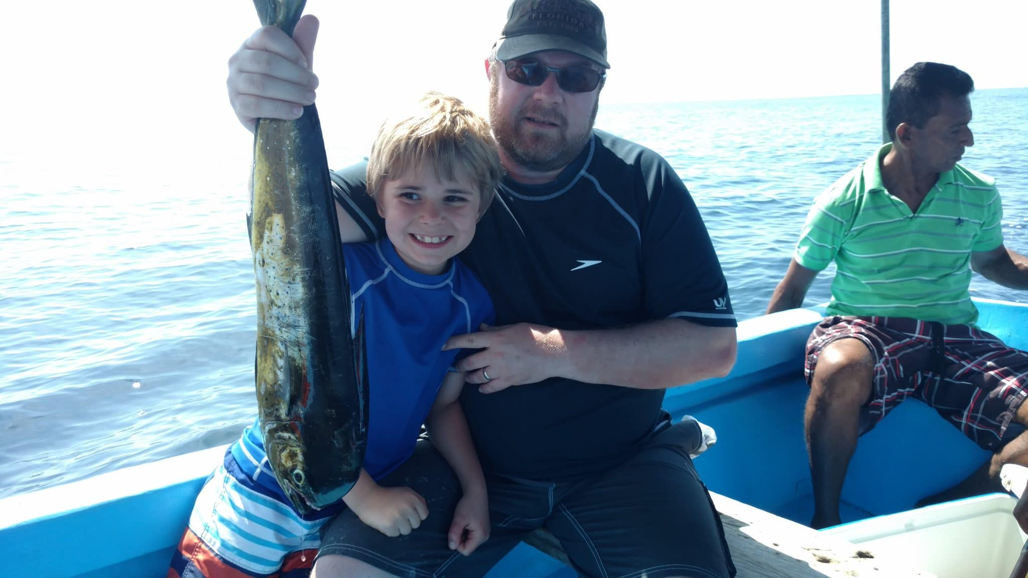 Chuck Ellingson with boy and fish