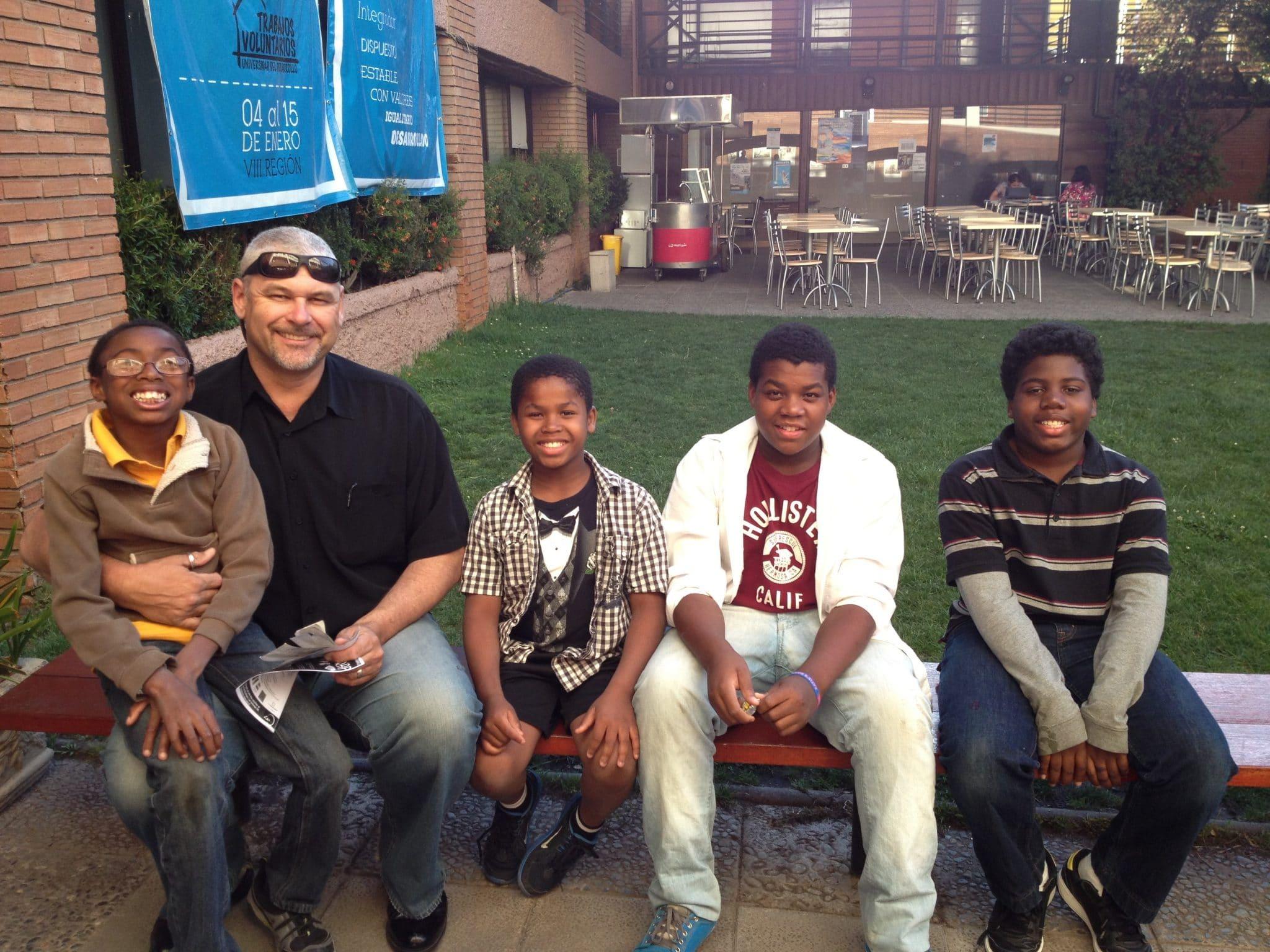 11Paul Reinhardt with four sons