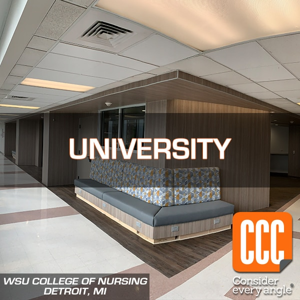 WSU College of Nursing interior hallway