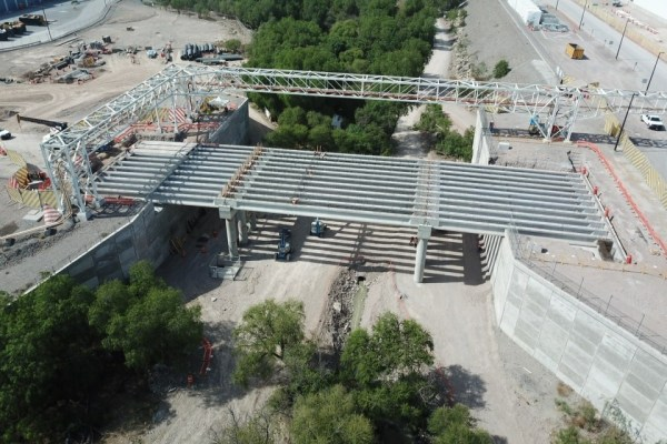 11drone photo of construction site with concrete pillars