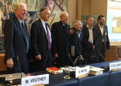 """Audio CCEG : 30 oct. 14 Intervention du Prof. Jean Ziegler """"La Civilisation de l'Amour"""" par Patrick De Laubier – Bibliothèque de l'ONU Genève"""