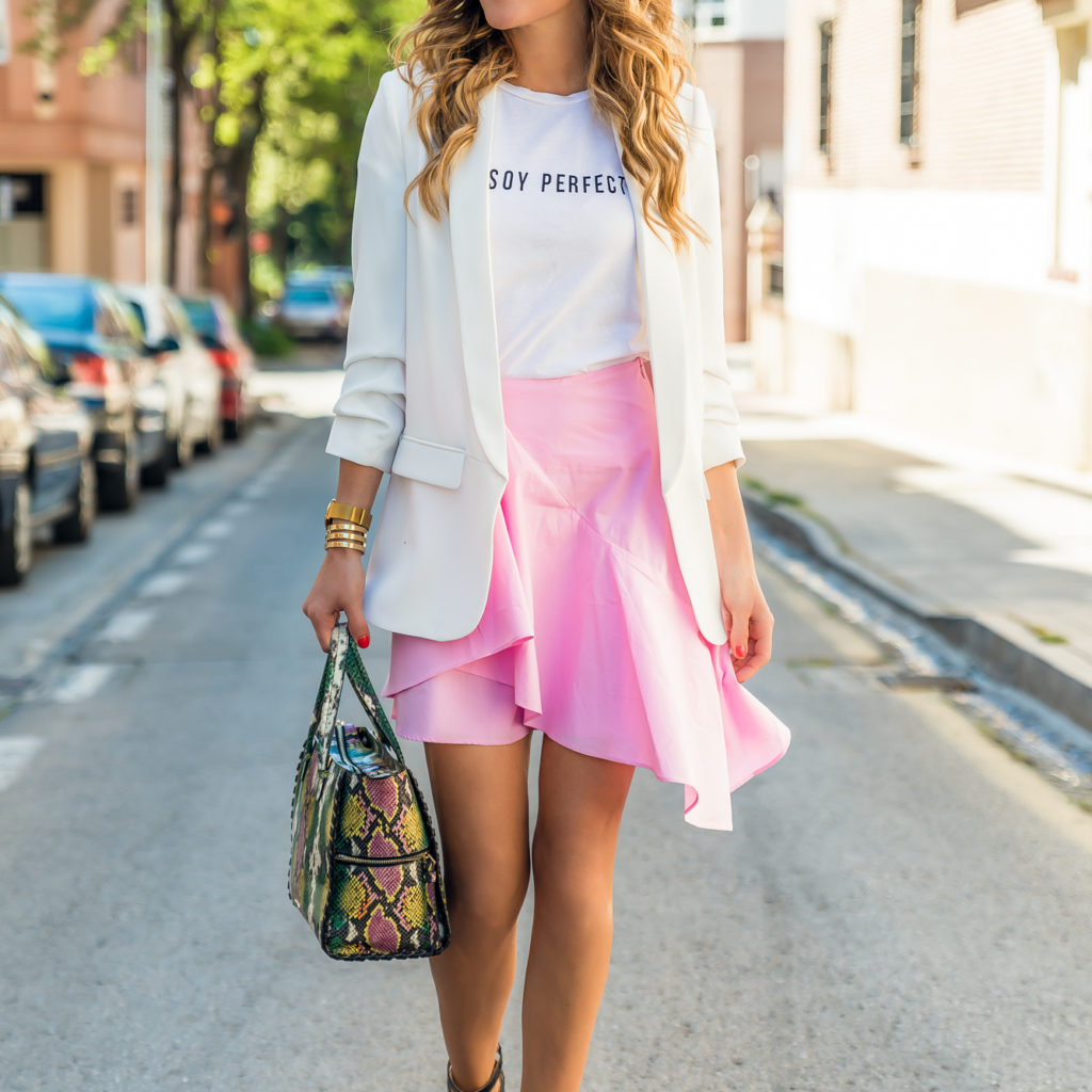 PINK ASYMMETRY SKIRT