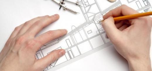 plan d'un architecte