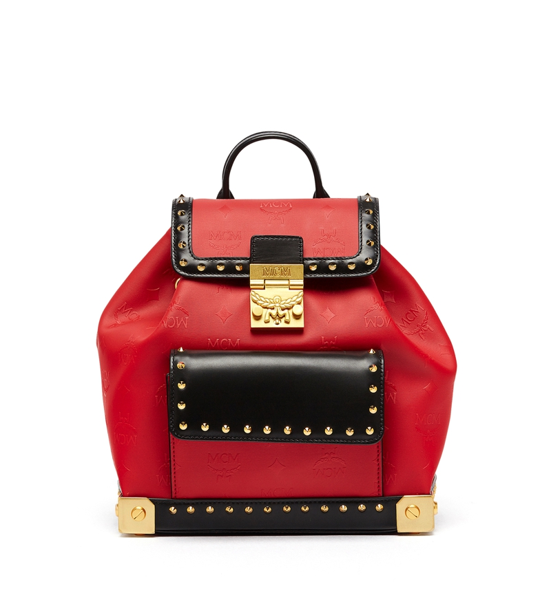 MCM AW16 Berlin Series Backpack Small Ruby Red £2,280