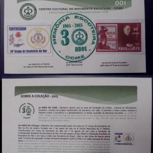 0039 - Cartela Colecionador CCME 30 anos