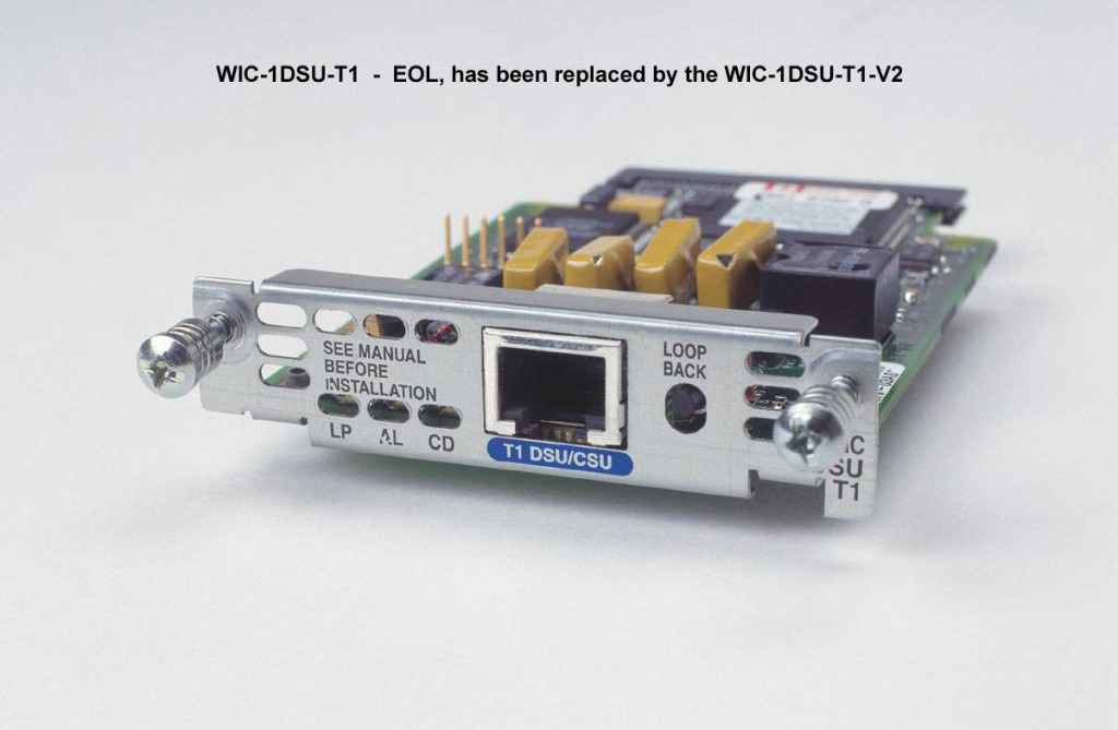 Card - WAN T1 Fract T1 with Integrated CSU-DSU (WIC-1DSU-T1)