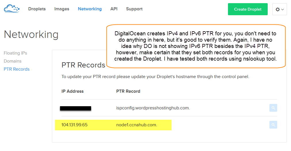 Configure Local or Public DNS PTR Records