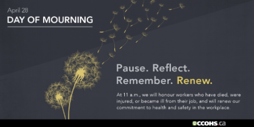 Day of Mourning postcard with dandelions and seeds
