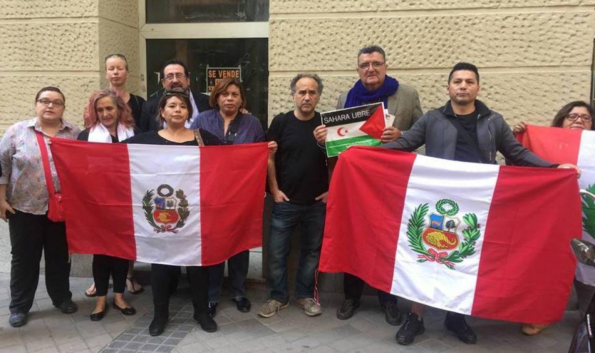 Concentración ante la Embajada de Perú