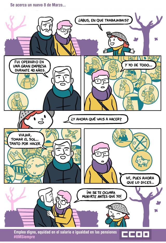 #8MSiempre: Empleo digno, equidad en el salario e igualdad en las pensiones