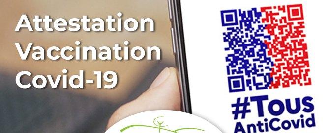 Attestation vaccination Covid-19 CCOP