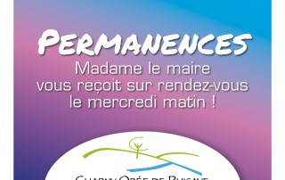 Permanences de Madame le maire