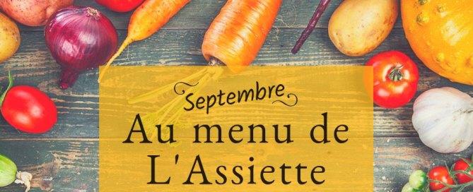 L'assiette locale - Menu scolaire juin au 2 septembre 2021 à Charny Orée de Puisaye