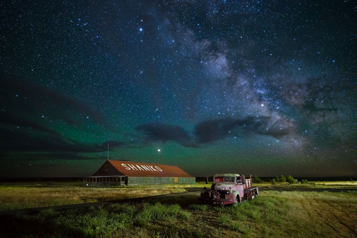Shaniko Ghost Town Astro Photography 2020