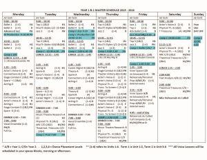 2016 Student Calendar