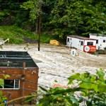 Hurricane Irene takes on Highland (Lloyd), NY
