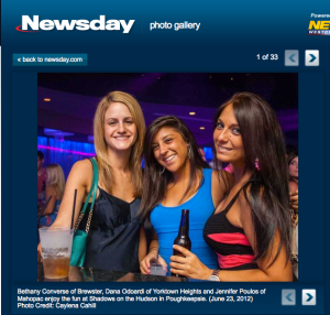 People enjoying their night out at Shadows - image posted on newsday.com