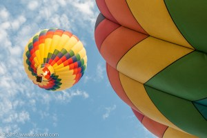Balloons rising into the sky over the Hudson Valley. (July 7, 2012)