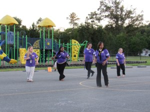 Enjoying Zumba at Back to School Night