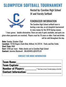 Slowpitch Fundraiser Announcement and Application