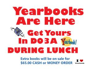 pick up yearbooks today