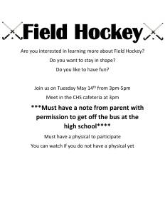 Field Hockey Begins