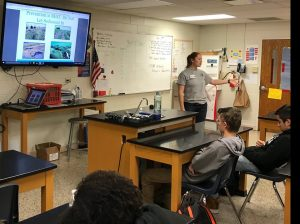 Friend of the Rappahannock STEM talks to CHS Environmental Science students
