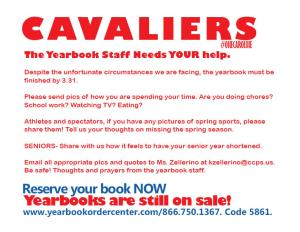 The yearbook staff need your help!