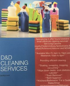 Flyer for D D Cleaning Services