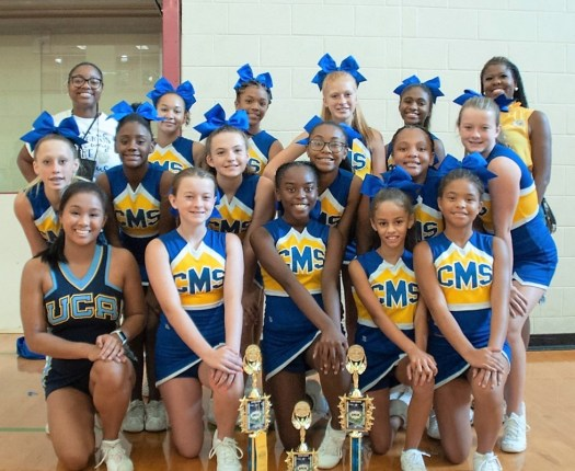 CMS cheerleaders attend cheer camp