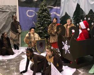 Students posing as characters from the Chronicles of Narnia