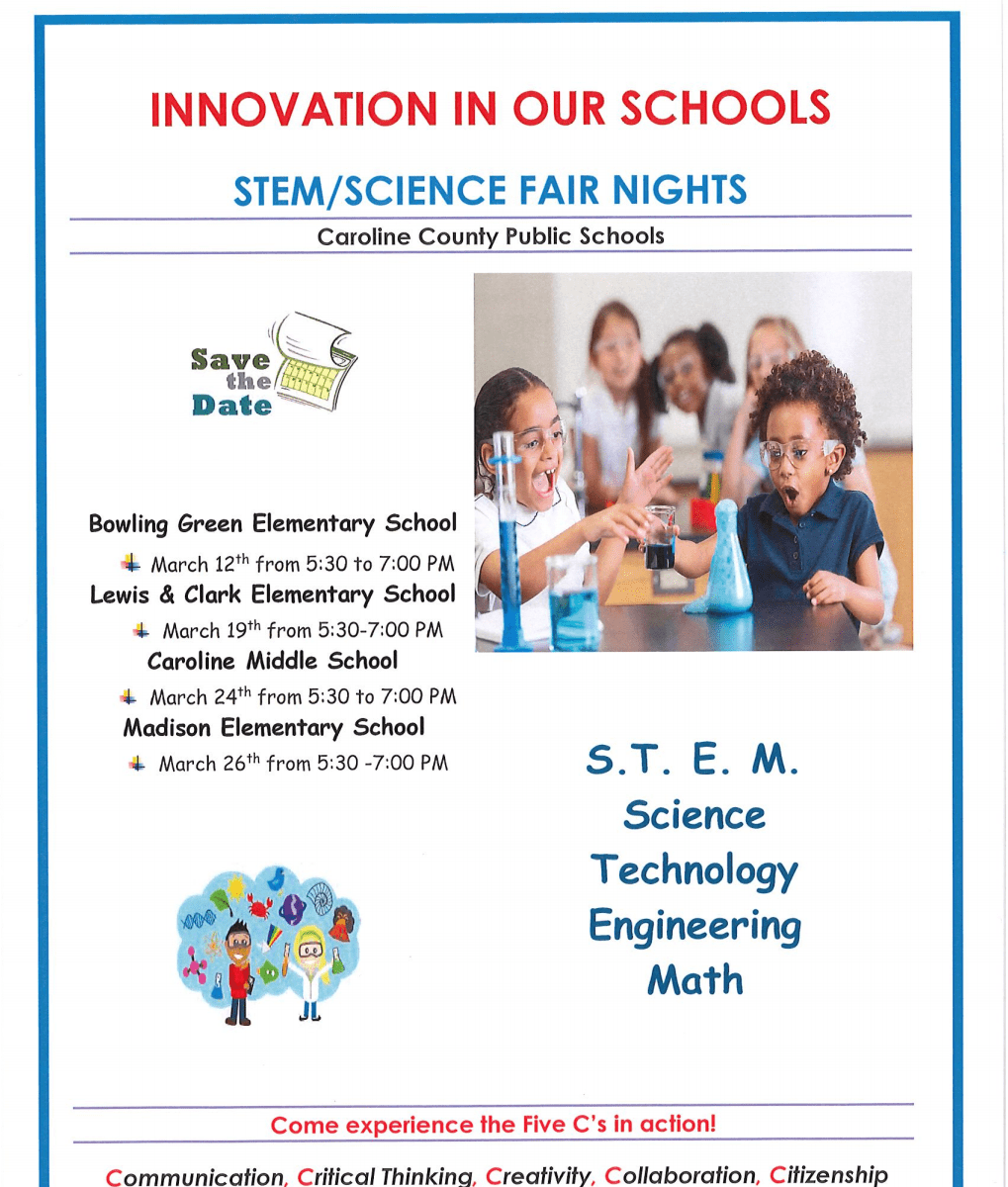 Innovation in our schools, STEM/Science fair nights