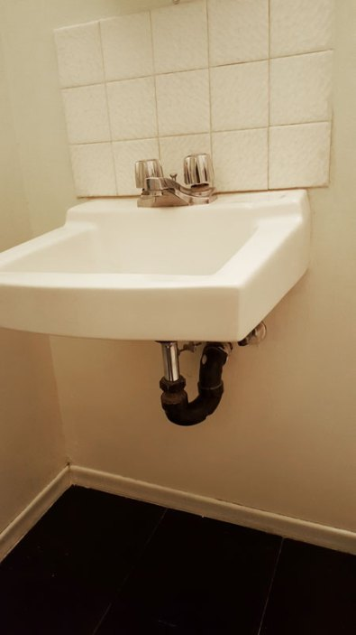 Bathroom Sink before renovation