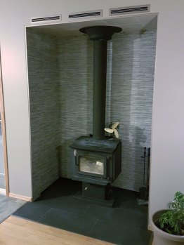 Completed Alcove with wood burning stove