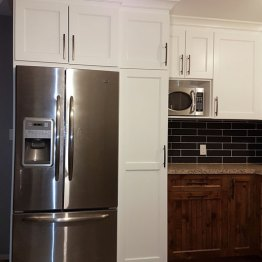 New Fridge and cabinets