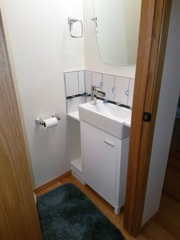 Completed half bath