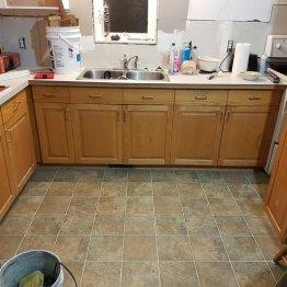 Kitchen Floor before renovation